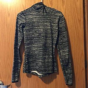 Size S Women's Nike Grey and Black Sweatshirt